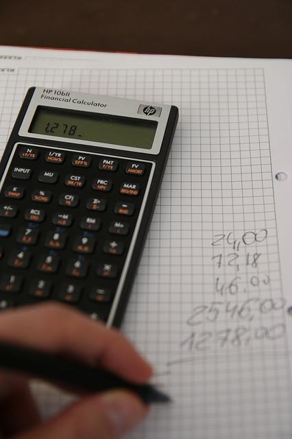 kalkulator og regnestykke